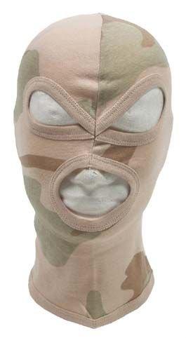 Zdjęcie: Kominiarka trzyotworowa, 100 % bawełna - Desert 3c
